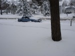 The car in the snow