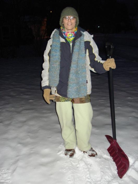 Mary in full winter battle gear