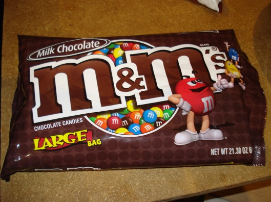 M&M's - If going with a holiday theme, pick the appropriate color.