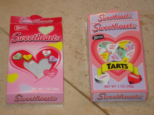 Necco Sweethearts & Tart Sweethearts