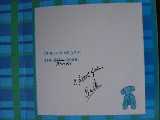 Greeting card, interior, by Hallmark