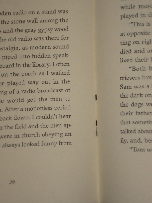 Marks inside binding of The Whistle Pig by Duck Miller