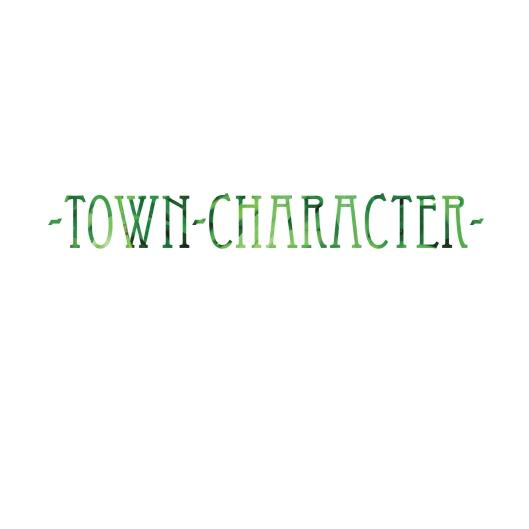 Town Character T-shirt Design