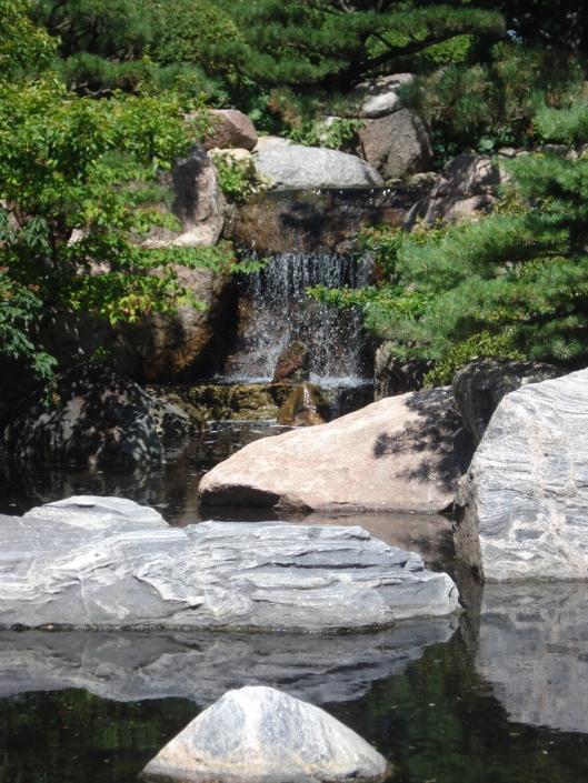 Waterfall at Japanese Garden, Como Park, St. Paul, MN