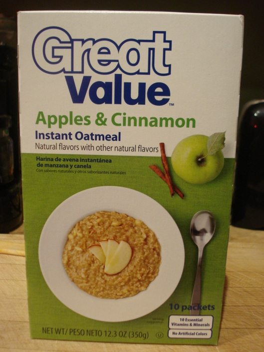 Great Value Apples & Cinnamon Instant Oatmeal
