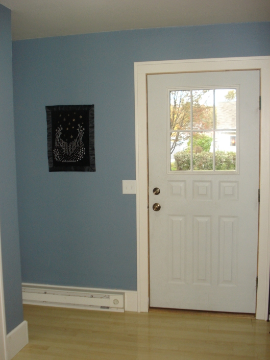 The front entry after repainting.