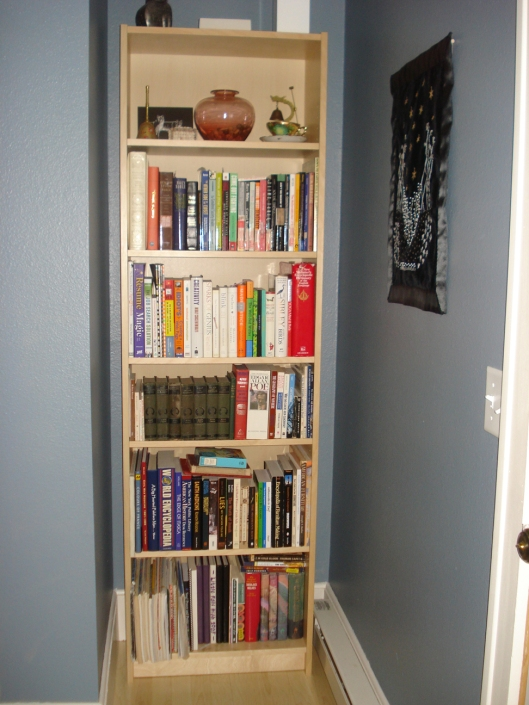 Front entry - the bookshelf nook.