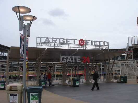 One of the Target Field gates, this one accessible from the plaza. May 6, 2010.