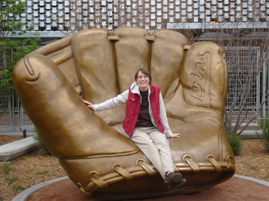 Me, sitting on a piece of public art at Target Field. May 6, 2010.