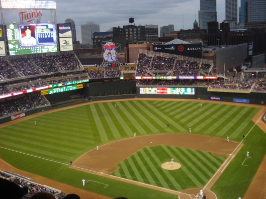 Our view of Target Field, Minneapolis, MN, May 6, 2010.