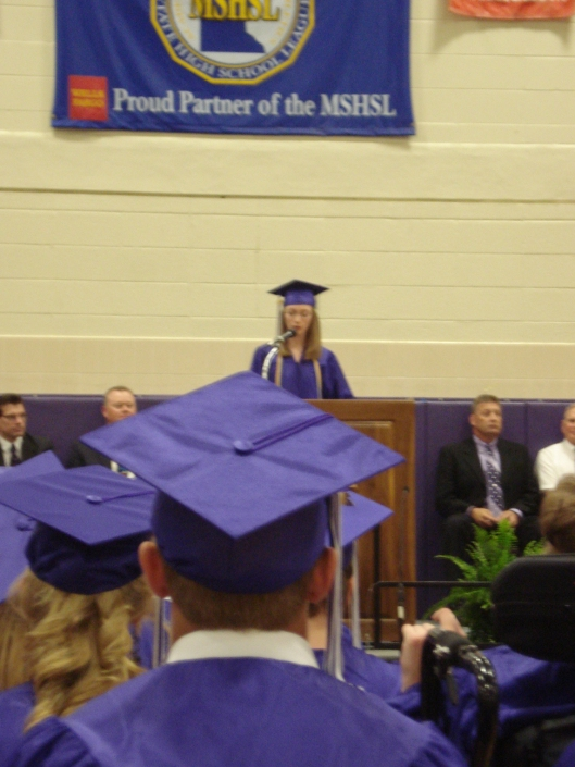 Daughter giving her speech at graduation, May 30, 2010.