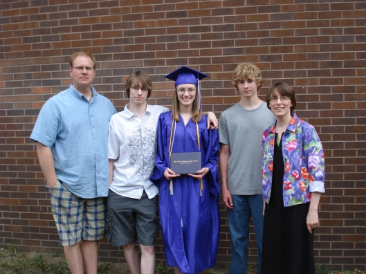 The Warner family on Daughter's graduation day, May 30, 2010.
