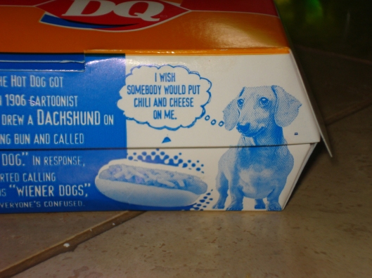 Dairy Queen hot dog box, June 3, 2010.