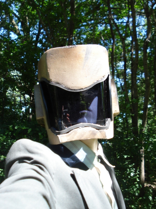 Eldest Son in his helmet, July 2010