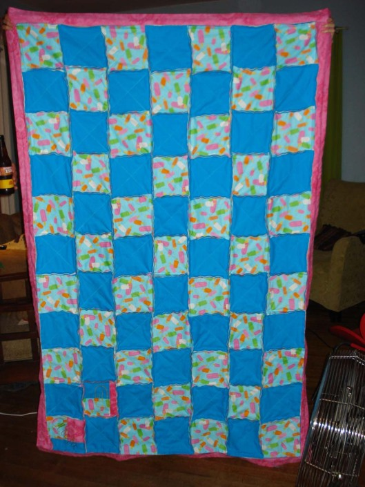 Front of Daughter's quilt, Aug. 28, 2010.