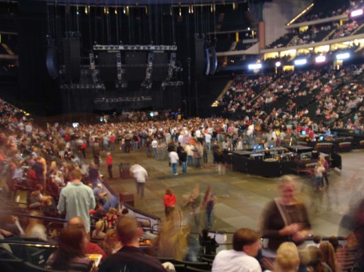 Audience filing into Xcel Energy Center for Dave Matthews Band concert, Sept. 15, 2010.