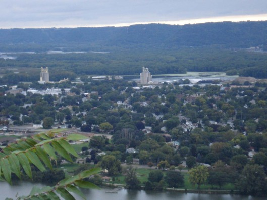 Another view of Winona, MN, from Garvin Heights Overlook, Sept. 16, 2010.