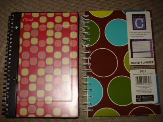 This year's calendar (on the left) and next year's calendar (on the right). December 2010.