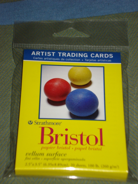 Artist trading card blanks by Strathmore, April 2011.