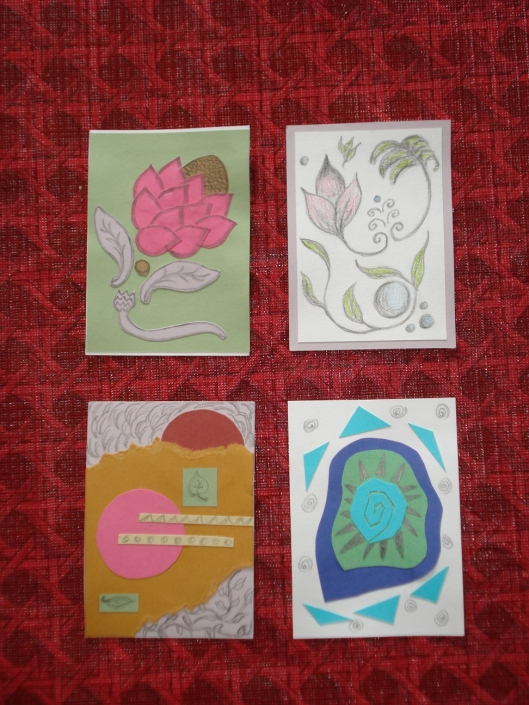 Artist trading cards by Mary Warner, 2007.