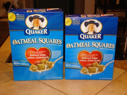 Quaker Oatmeal Squares - 2 box sizes, May 2011