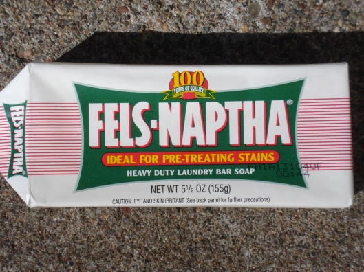 Bar of Fels-Naptha laundry soap, May 2011