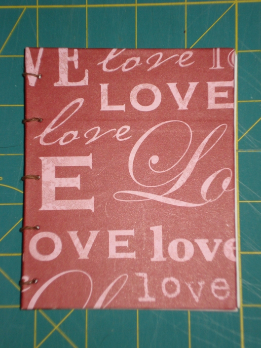 "Handmade ""Love"" book by Mary Warner, August 2011."