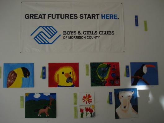 More two-dimensional art from the Boys & Girls Clubs of Morrison County exhibit, GRAA, August 26, 2011.