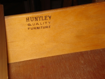 Huntley marking in Huntley hutch in the Cooler at Rural Origins Antiques, October 2011.