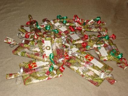 Wrapped handmade books & pens, 2011