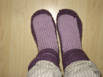 Slipper socks by S. Warner, 2011