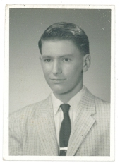 John Rasmussen, high school senior photo, 1960